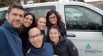 El equipo del Centro San Juan de Dios de Ciempozuelos que acompaña a la familia